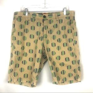 GANESH Tan print Shorts regular fit sz 33